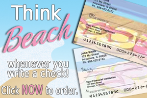 Beach-theme Personal Check